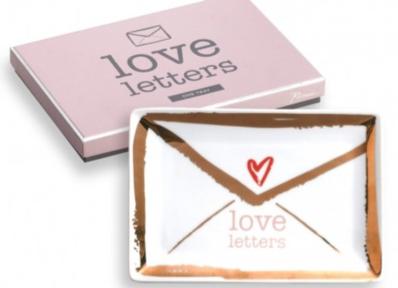 'love letters' tray