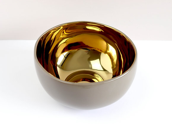 large gold accent bowl