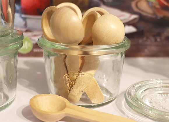 small wooden salt or spice spoon
