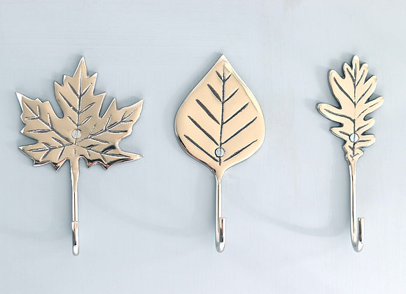 leaf hooks, set of 3