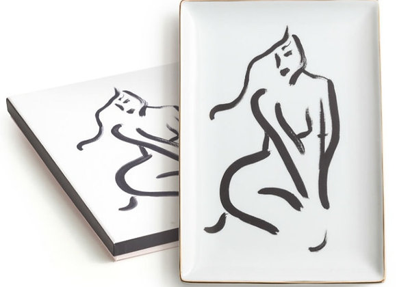 large nude tray