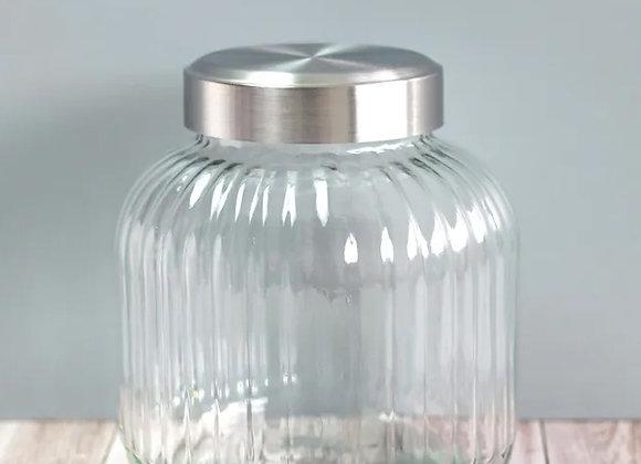 glass pantry barrel jar, small