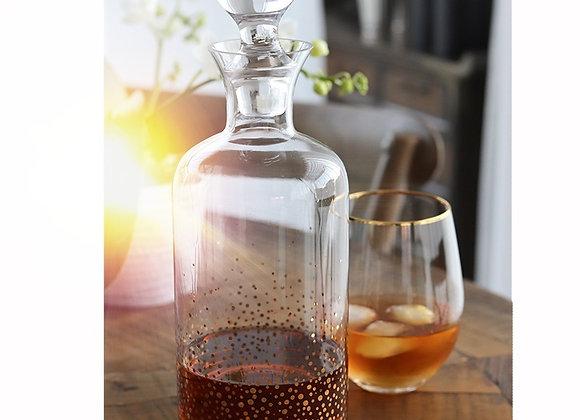 gold dot glass decanter