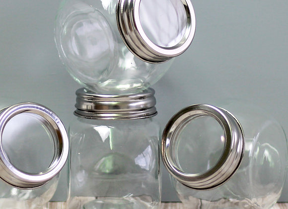 glass spice jars x 12