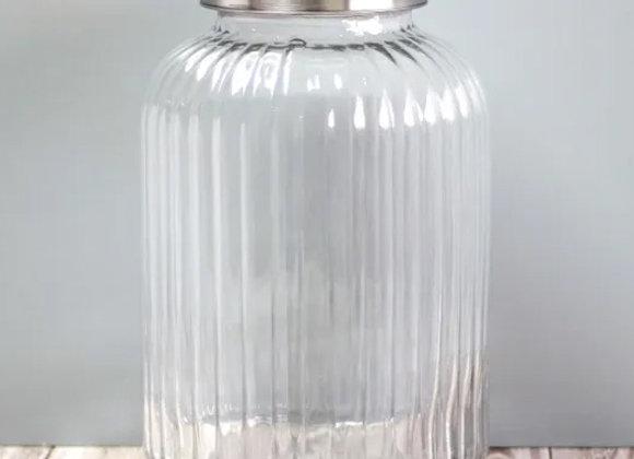 glass pantry barrel jar, large
