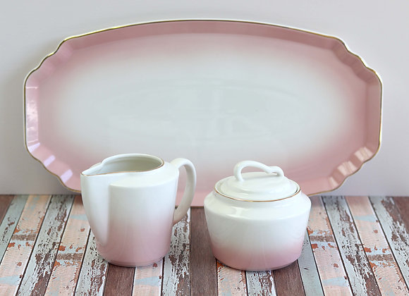 pink ombre tray, large