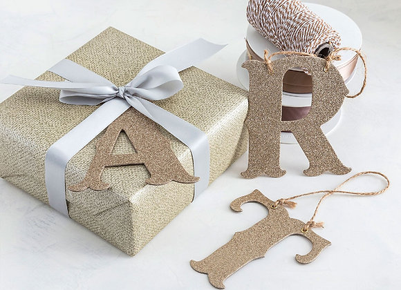 gold glitter letters, pack of 70