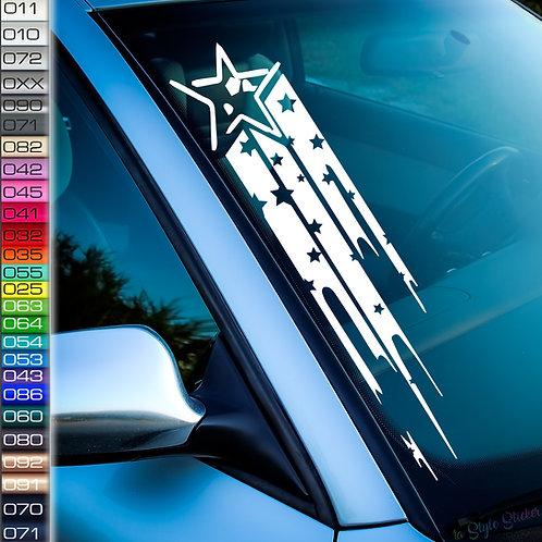 JDM Sterne Frontscheibenaufkleber Tuningsticker Autoaufkleber Uni Farben Sticker Tuningaufkleber Tuningszene