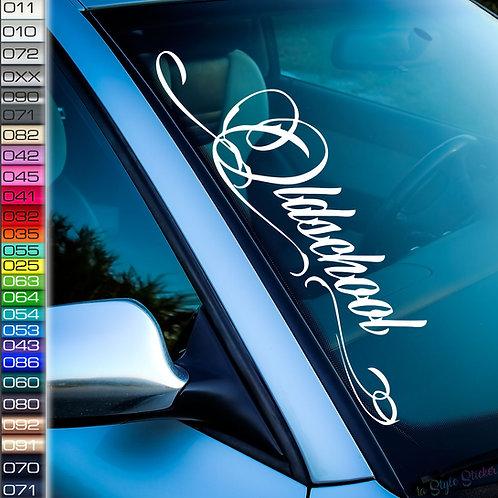 Oldschool Old English Frontscheibenaufkleber Tuningsticker Autoaufkleber Uni Farben Sticker Tuningaufkleber Tuningszene