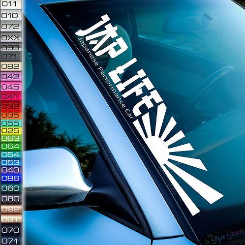 JAP LIFE RISING SUN JDM Aufkleber Frontscheibenaufkleber Japan Nissan GTR Supra Honda