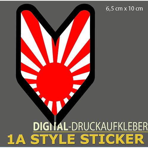 JAPAN FLAGGE Wakaba Pfeil Aufkleber Stickerbomb Motiv DRIFT STYLE JAPAN STICKER