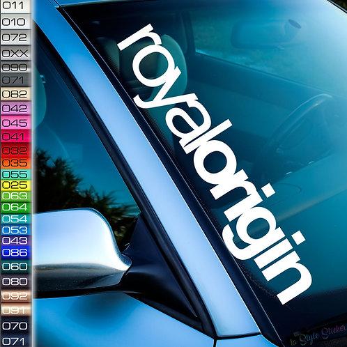 Royal Origin Frontscheibenaufkleber Tuningsticker Autoaufkleber Uni Farben Sticker Tuningaufkleber Tuningszene