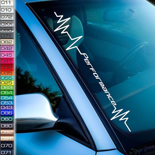 Pulsschlag Performance Frontscheibenaufkleber Tuningsticker Autoaufkleber Uni Farben Sticker Tuningaufkleber Tuningszene