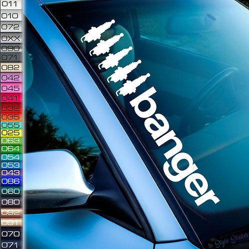 Banger 5 Frontscheibenaufkleber Tuningsticker Autoaufkleber Uni Farben Sticker Tuningaufkleber Tuningszene