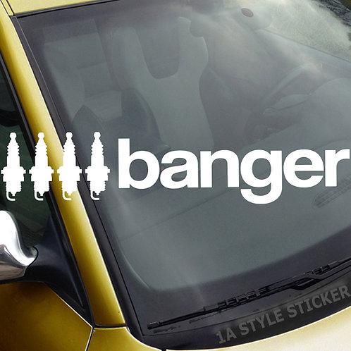 4 Banger 4 Zylinder Frontscheibenaufkleber Tuningsticker Autoaufkleber Uni Farben Sticker Tuningaufkleber Tuningszene
