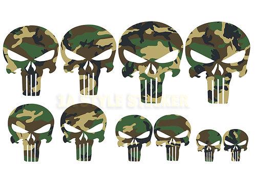 10 x The Punisher Sticker Tarnlook Bundeswehr Camouflage