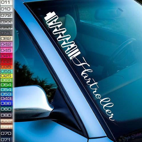 Hartroller Dämpfer Frontscheibenaufkleber Tuningsticker Autoaufkleber Uni Farben Sticker Tuningaufkleber Tuningszene