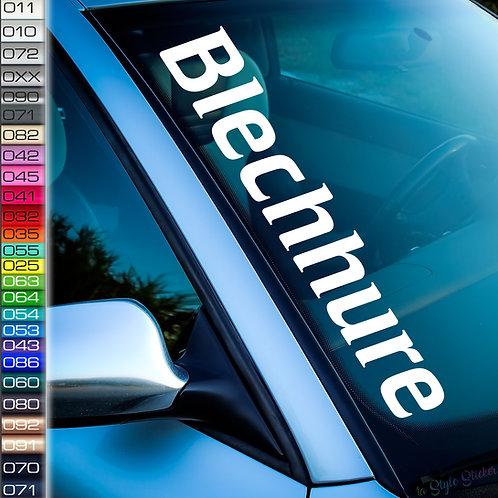 Blechhure Frontscheibenaufkleber Tuningsticker Autoaufkleber Uni Farben Sticker Tuningaufkleber Tuningszene