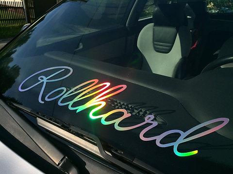 Rollhard Frontscheiben Aufkleber Oilslick Hologramm 1astylesticker