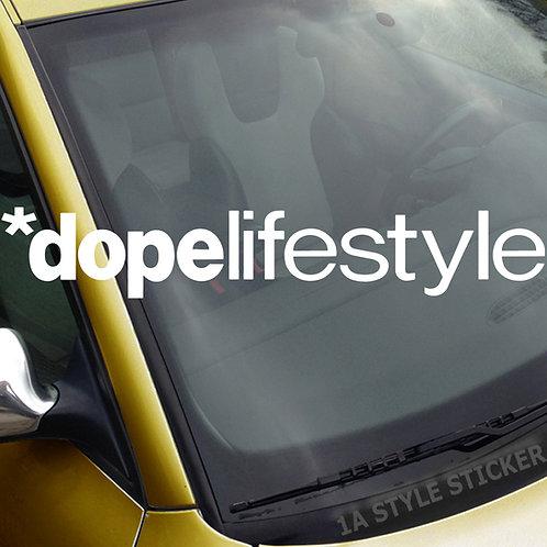 dopelifestyle Frontscheibenaufkleber Tuningsticker Autoaufkleber Uni Farben Sticker Tuningaufkleber Tuningszene