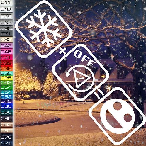 Schnee+ESPoff=Fun Winterauto Aufkleber Motiv W20
