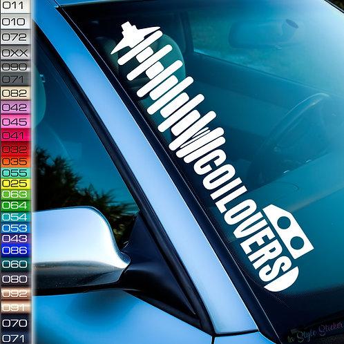 Coilovers Frontscheibenaufkleber Tuningsticker Autoaufkleber Uni Farben Sticker Tuningaufkleber Tuningszene