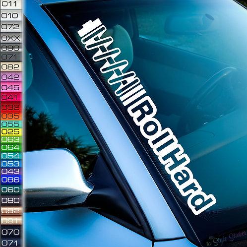 RollHard Frontscheibenaufkleber Tuningsticker Autoaufkleber Uni Farben Sticker Tuningaufkleber Tuningszene