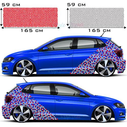 Auto Seitenaufkleber VW Polo Gti Tuningsticker Autoaufkleber