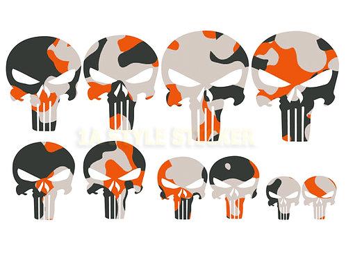 10 x The Punisher Sticker Tarnlook Bunt Decal Skulls