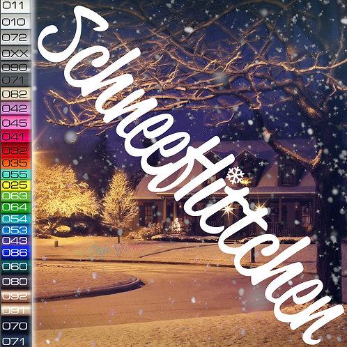 Schneeflitchen Winterauto Aufkleber Motiv W68