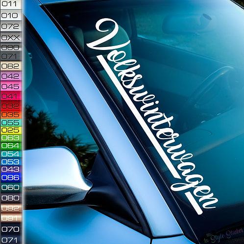 Volkswinterwagen VW Frontscheibenaufkleber Tuningsticker Autoaufkleber Uni Farben Sticker Tuningaufkleber Winterauto