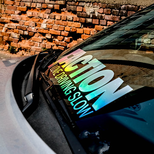 Faction Love Driving Slow Oilslick Tuningsticker Öl Farben Hologramm Frontscheibenaufkleber Farbwechsel Effekt