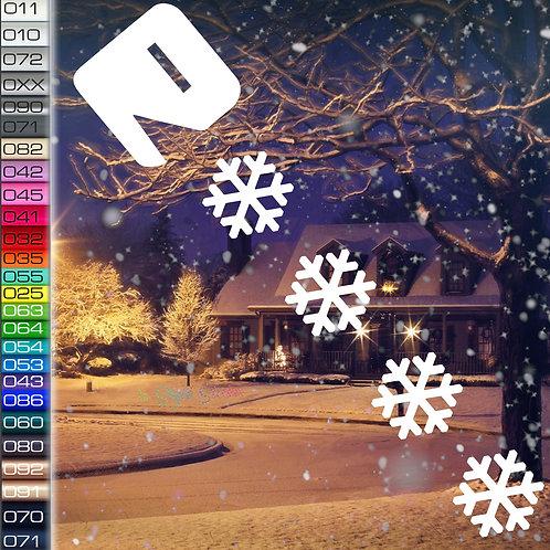 Pacman Schnee Winterauto Aufkleber Motiv W61