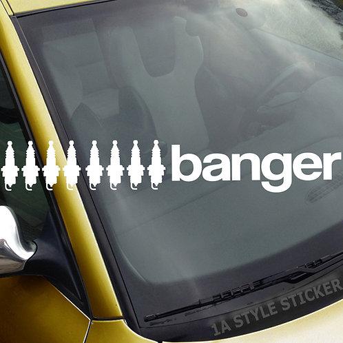 8 Banger 8 Zylinder Frontscheibenaufkleber Tuningsticker Autoaufkleber Uni Farben Sticker Tuningaufkleber Tuningszene