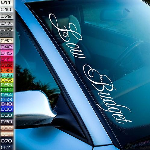Low Budget Frontscheibenaufkleber Tuningsticker Autoaufkleber Uni Farben Sticker Tuningaufkleber Tuningszene