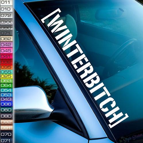 Winterhoonigan Schnee Snow Frontscheibenaufkleber Tuningsticker Autoaufkleber Uni Farben Sticker Tuningaufkleber Winterauto