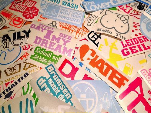 30 Sticker im Set low life Autoaufkleber Fahwerk lustige sprüche