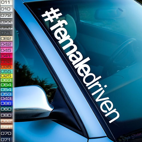 #female driven Frontscheibenaufkleber Tuningsticker Autoaufkleber Uni Farben Sticker Tuningaufkleber Tuningszene
