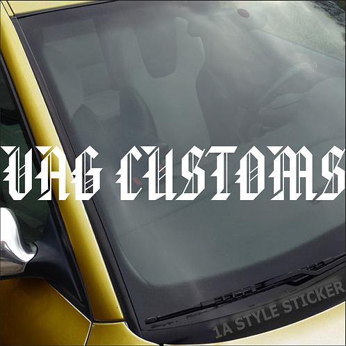 VAG Custom Frontscheibenaufkleber Tuningsticker Autoaufkleber Uni Farben Sticker Tuningaufkleber Tuningszene