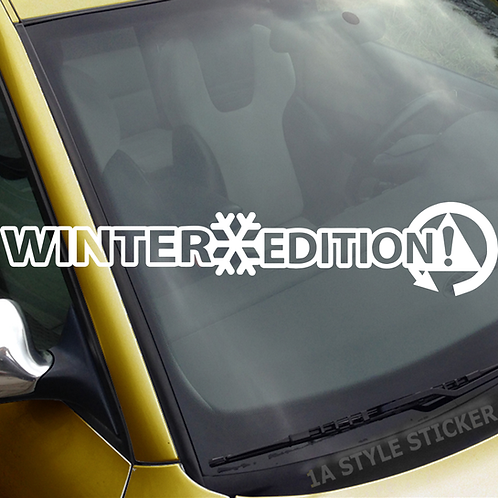 Winter Edition! Winterauto Frontscheibenaufkleber Tuningsticker Autoaufkleber Uni Farben Sticker Tuningaufkleber Tuningszene