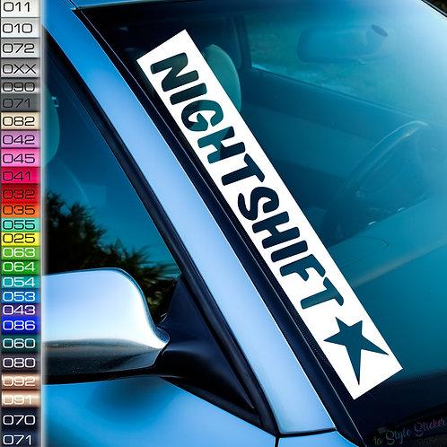 Night Shift Frontscheibenaufkleber Tuningsticker Autoaufkleber Uni Farben Sticker Tuningaufkleber Tuningszene