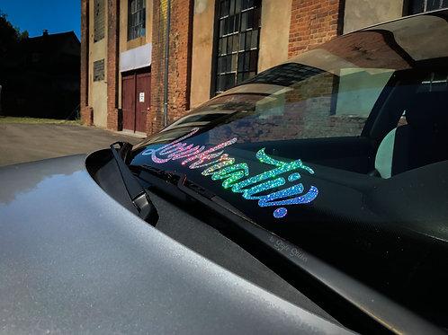 Lowkrativ. Glitzerflakes Tuningsticker Frontscheibenaufkleber Autoaufkleber Effektfolie Custom Sticker Glitter Hologramm