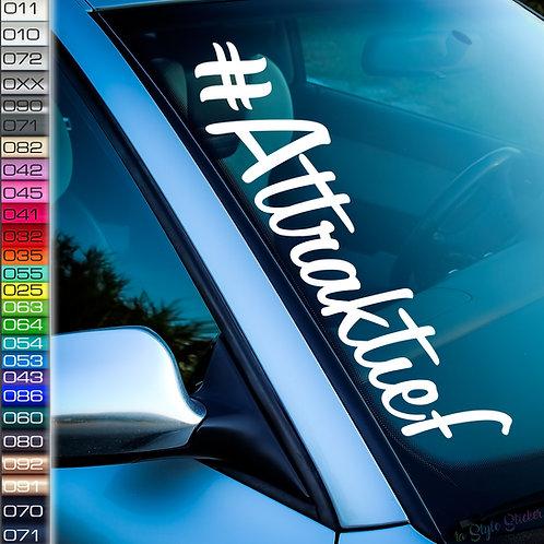 #Attraktief Frontscheibenaufkleber Tuningsticker Autoaufkleber Uni Farben Sticker Tuningaufkleber Tuningszene