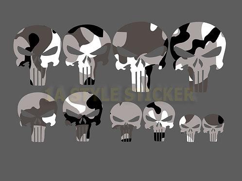 10 x The Punisher Sticker Tarnlook Bundeswehr Camouflage Black