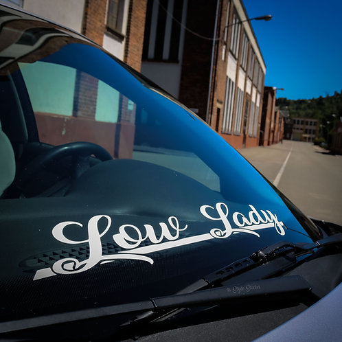 Low Lady Frontscheibenaufkleber Tuningsticker Autoaufkleber Uni Farben Sticker Tuningaufkleber Tuningszene