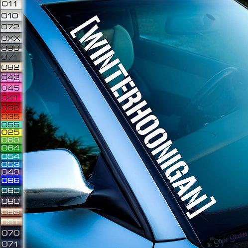 Winterhoonigan Winterauto Frontscheibenaufkleber Tuningsticker Autoaufkleber Uni Farben Sticker Tuningaufkleber Tuningszene
