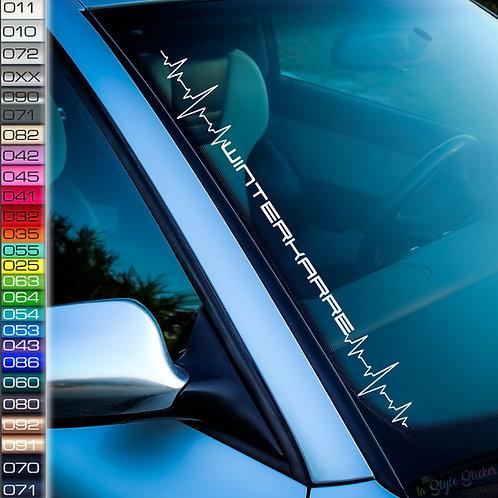 Pulsschlag Winterkarre Frontscheibenaufkleber Tuningsticker Autoaufkleber Uni Farben Sticker Tuningaufkleber Winterauto