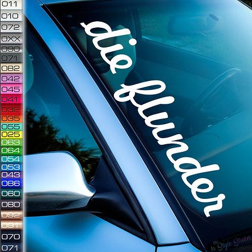 Die Flunder Frontscheibenaufkleber Tuningsticker Autoaufkleber Uni Farben Sticker Tuningaufkleber Tuningszene