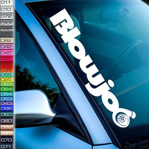 Blowjob Turbo Frontscheibenaufkleber Tuningsticker Autoaufkleber Uni Farben Sticker Tuningaufkleber Tuningszene