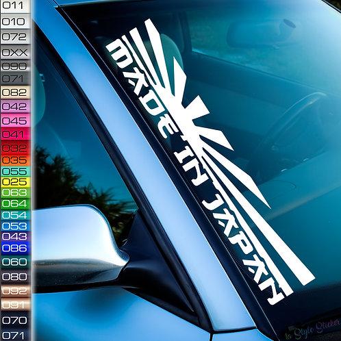 Made in Japan Flagge Frontscheibenaufkleber Tuningsticker Autoaufkleber Uni Farben Sticker Tuningaufkleber Tuningszene